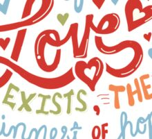 Sliver of Love Sticker