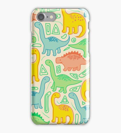 Dinosaur party iPhone Case/Skin