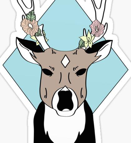 Hibiscus Deer Sticker