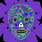 Hipster sugar SKULL art by LeahG  by LeahG Artist