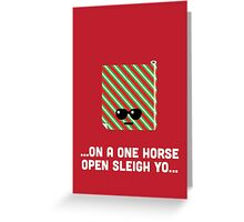 Christmas Character Building - Wrapping Paper Greeting Card