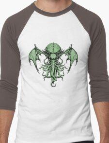 Cthulhu-Sumi (colour version) Men's Baseball ¾ T-Shirt