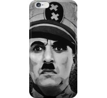 The Great Dictator Charles Chaplin black and white  iPhone Case/Skin