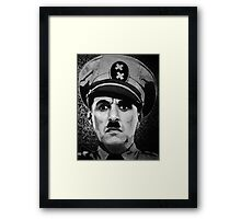 The Great Dictator Charles Chaplin black and white  Framed Print