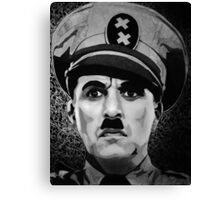 The Great Dictator Charles Chaplin black and white  Canvas Print