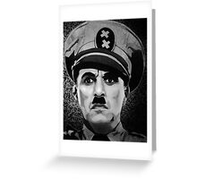 The Great Dictator Charles Chaplin black and white  Greeting Card