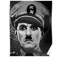 The Great Dictator Charles Chaplin black and white  Poster