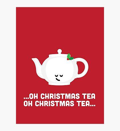 Christmas Character Building - Oh Christmas Tea Photographic Print