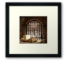 Story in the middle of ... Framed Print