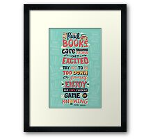 Read Books Framed Print