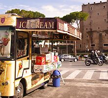 Ice cream van in Rome by visualimagery