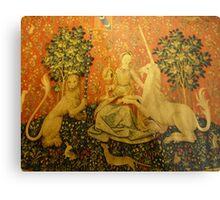 Lady and the unicorn Metal Print