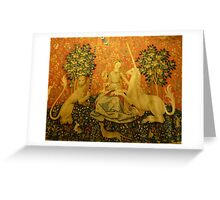 Lady and the unicorn Greeting Card