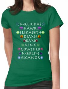 Seven Deadly Sins Names Womens Fitted T-Shirt