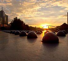 Riveting Southbank Sunrise by Norman Repacholi