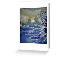 Twilight Snow Greeting Card