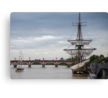 Fregate Hermione replica  Canvas Print