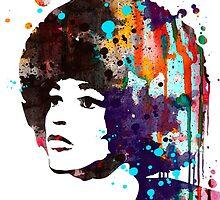 Angela Davis by Watercolorsart