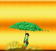 Floral Umbrella by mindprintz