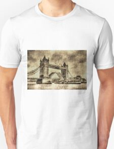 Tower bridge and the Waverley Vintage Unisex T-Shirt