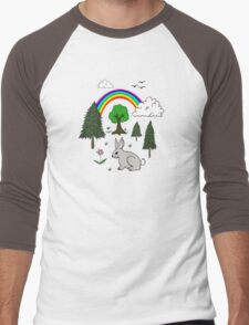 Nature Scene Men's Baseball ¾ T-Shirt