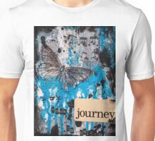 Butterfly Black and Blue Journey Mixed Media Art Unisex T-Shirt