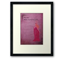 Hercules inspired design (Hera). Framed Print