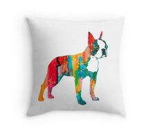 Boston Terrier 2 Throw Pillow