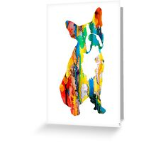 Boston Terrier 3 Greeting Card