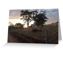 Sun set in the hills. Greeting Card
