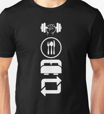 Gym Eat Sleep Repeat - New Years Resolution Workout Unisex T-Shirt