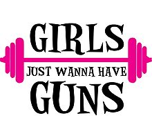 girls just wanna have guns, girls, bodybuilding Photographic Print