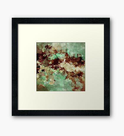 Brown Abstract Acrylic Painting Framed Print