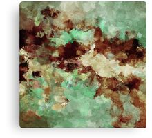 Brown Abstract Acrylic Painting Canvas Print