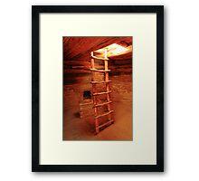 Sunlight shines in Kiva Ladder Opening Framed Print