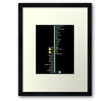Line 2 Parody Map Framed Print