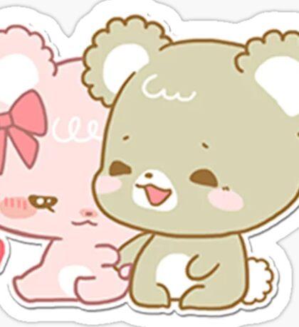 sugar cubs - sitting together Sticker