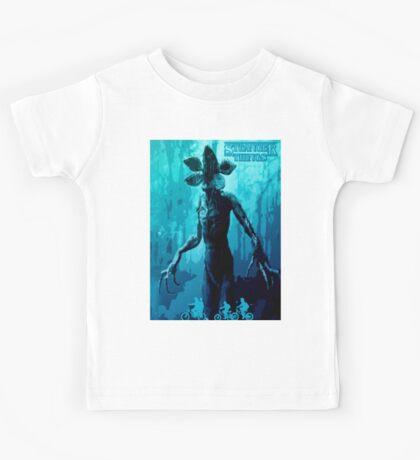 Stranger Things Poster  (blue Nightmare) Kids Tee