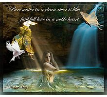 Pure water in a clean river Photographic Print