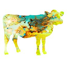Cow 3 by Watercolorsart