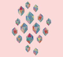 Floating Gems - a pattern of painted polygonal shapes Kids Clothes