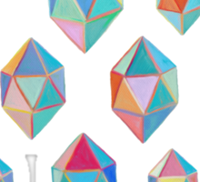 Floating Gems - a pattern of painted polygonal shapes Sticker