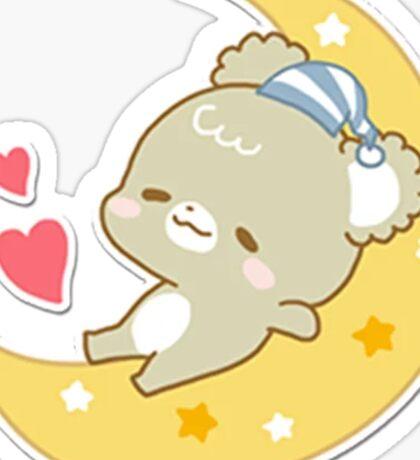 brown sleepy sugar cub Sticker