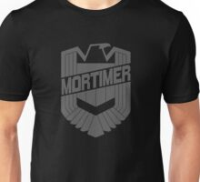 Custom Dredd Badge - Mortimer Unisex T-Shirt