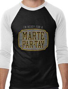 Marte Par-tay (on dark) Men's Baseball ¾ T-Shirt