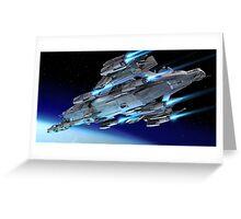 Star citizen's Idris corvette Greeting Card
