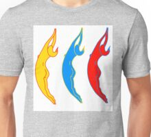 3 ladies 3 colours Unisex T-Shirt