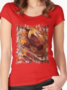 Autumn Horse Women's Fitted Scoop T-Shirt