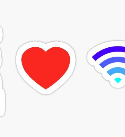 OS Love Wifi color Sticker