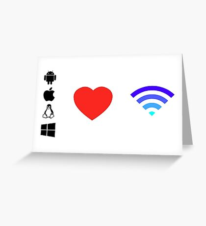 OS Love Wifi color Greeting Card
